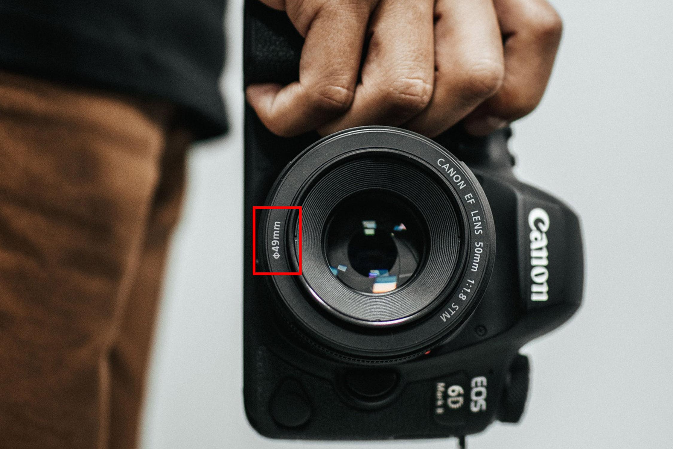 canon lens filtermaat