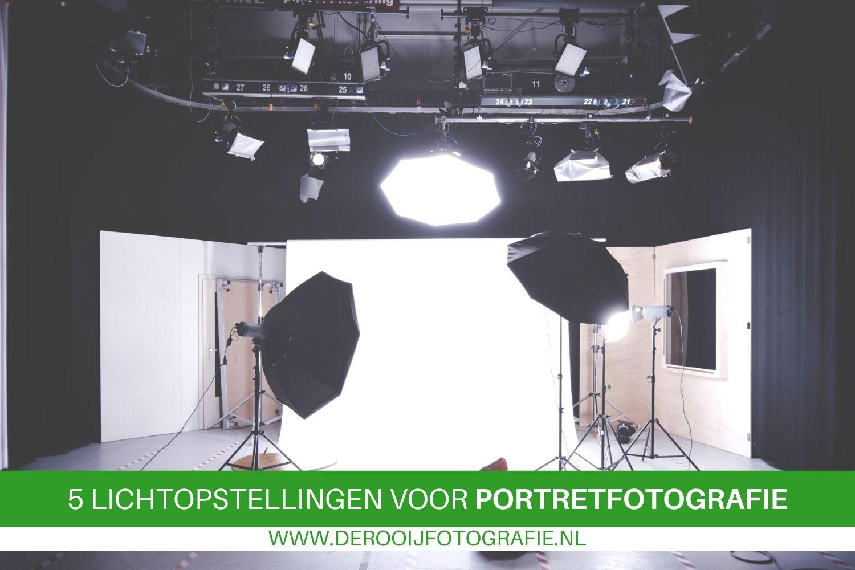 5 lichtopstellingen voor studiofotografie