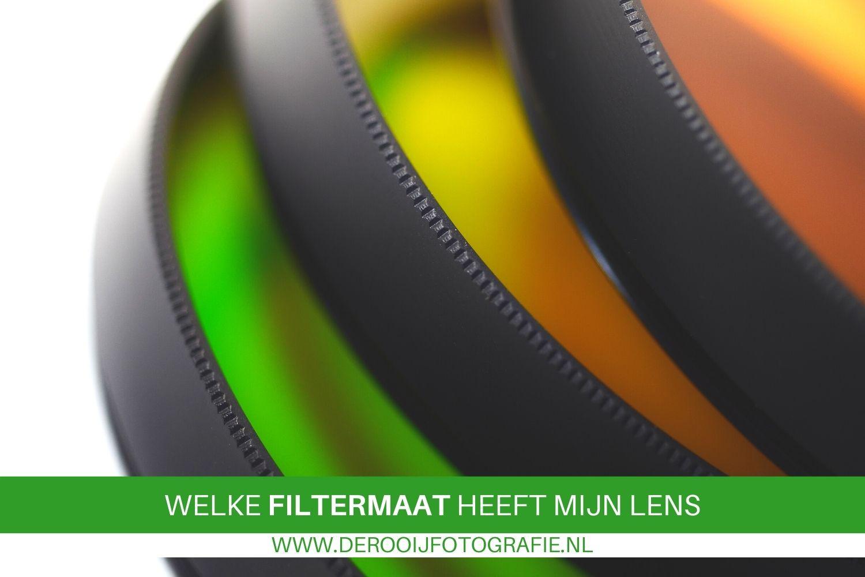 welke filtermaat heeft mijn lens