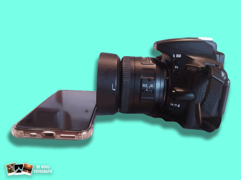 camera hack mobiel als reflectie