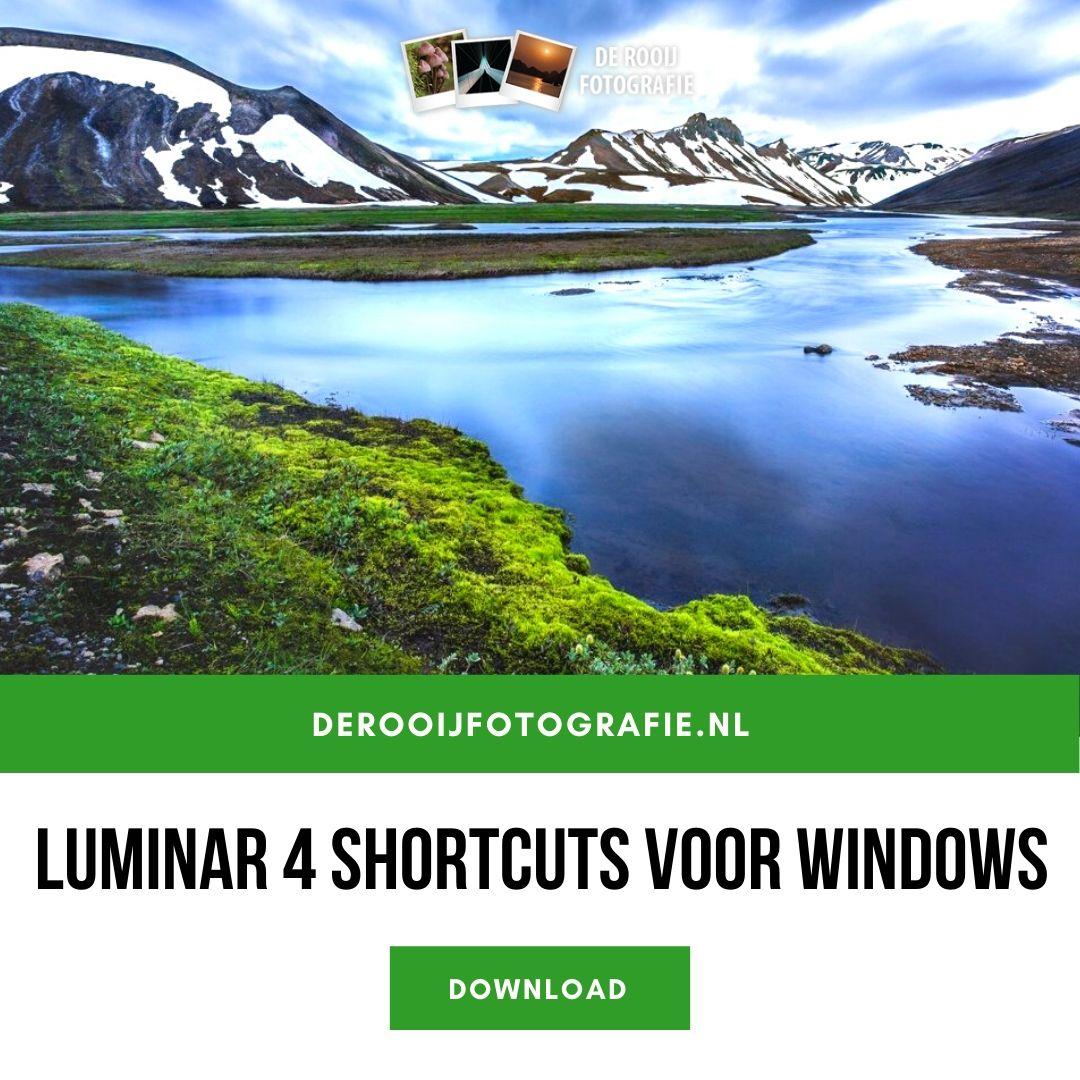 download luminar 4 shortcuts sneltoetsen windows