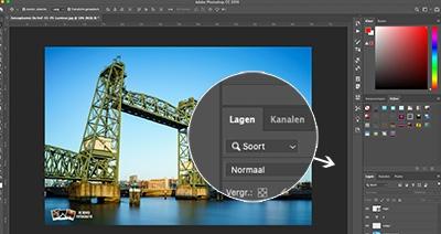 cursus photoshop werken met lagen