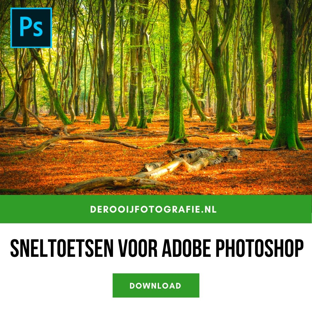 adobe photoshop sneltoetsen