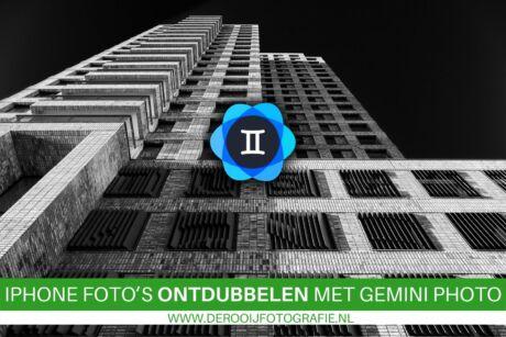 Automatisch dubbele iphone foto's verwijderen met de Gemini Photo app