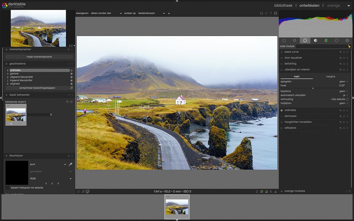 beste gratis fotobewerkingsprogrammas darktable