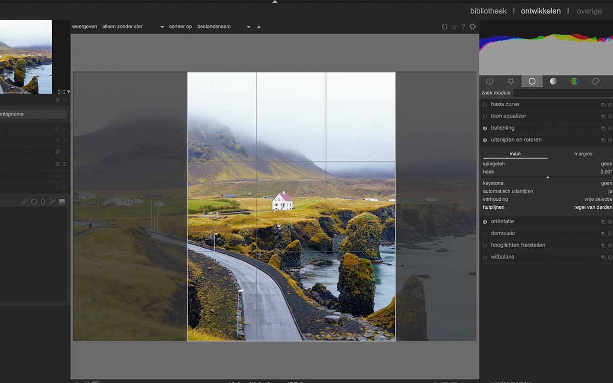 bijsnijden beste gratis fotobewerkingsprogrammas darktable