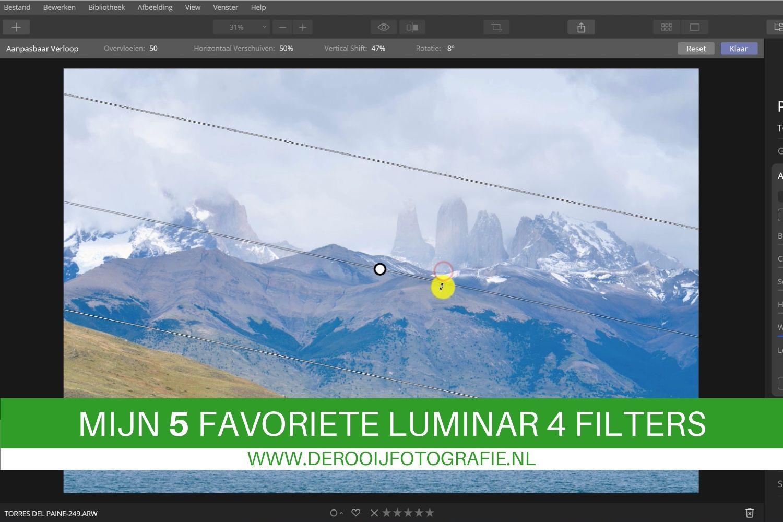 5 favoriete luminar 4 filters en functie voor landschapsfotografen