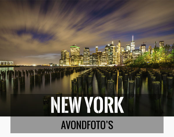 Mooiste avondfoto's van New York als wanddecoratie