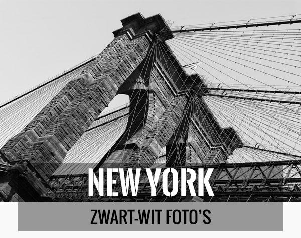 Mooiste zwart-wit foto's van New York als wanddecoratie