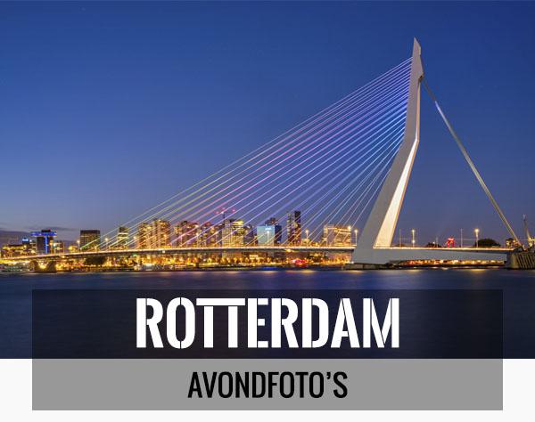 Mooiste avondfoto's van Rotterdam