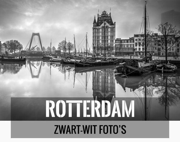 Mooiste zwart-wit foto's van Rotterdam