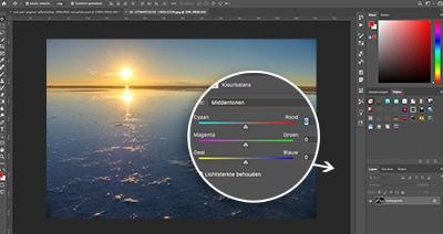 adobe photoshop leer werken met witbalans