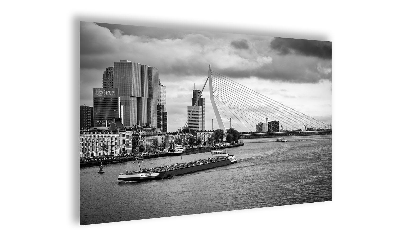 Fotoposter Erasmusbrug Rotterdam (zwart-wit)