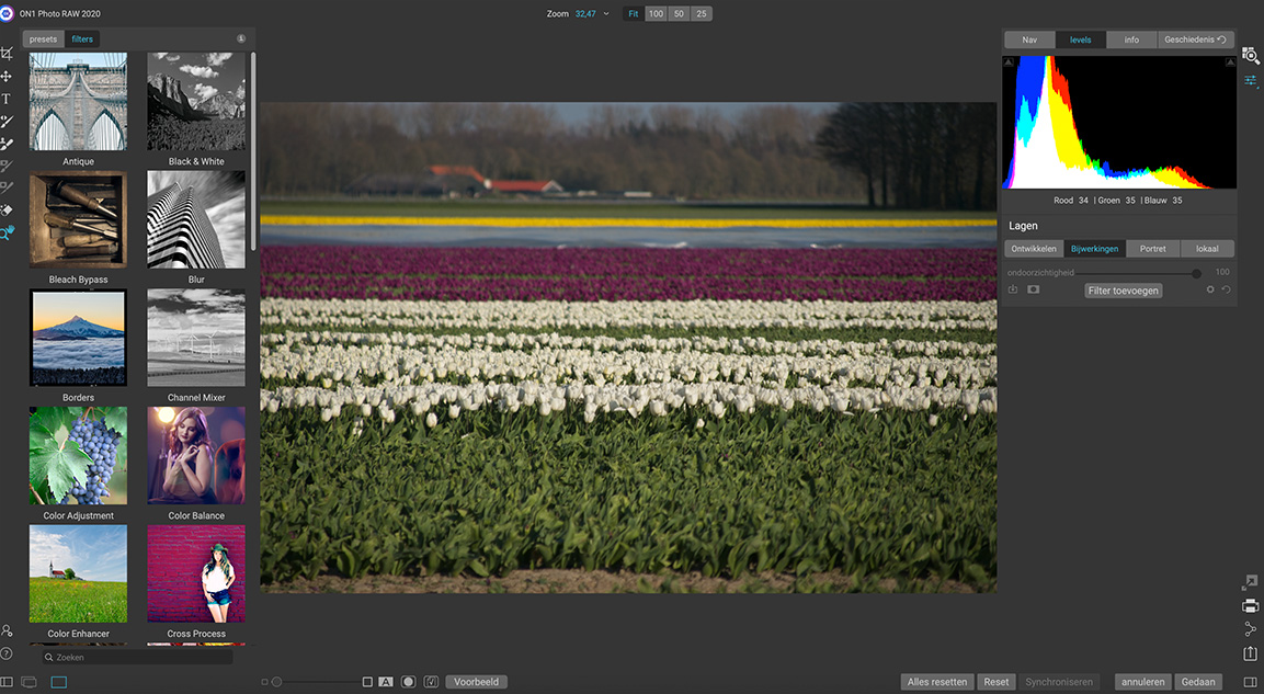 on 1 photo raw filters