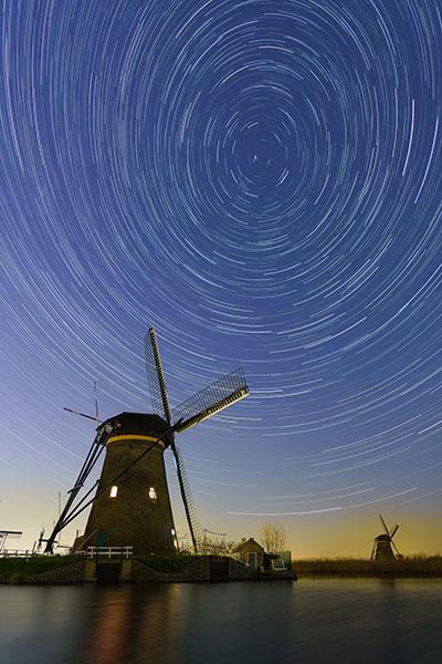 Gratis Fotografie boek - Foto sterrenspoor Kinderdijk