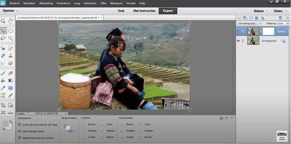 selecties maken in photoshop elements cursus