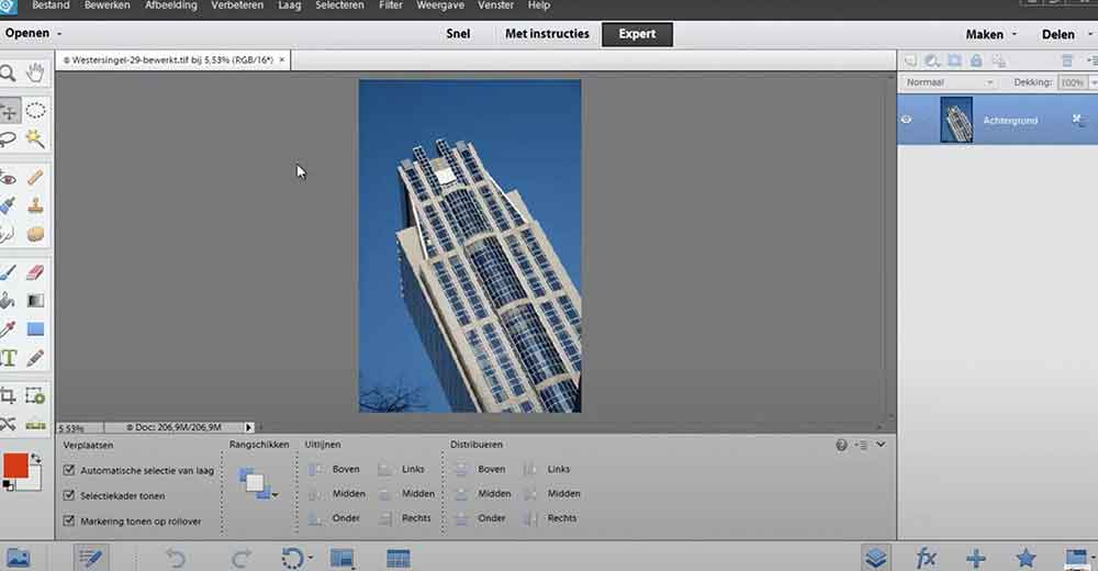 luchten verbeteren in Photoshop Elements