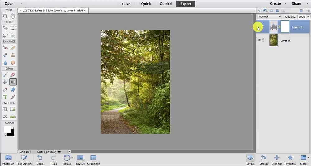 leren werken met lagen in deze photoshop elements cursus