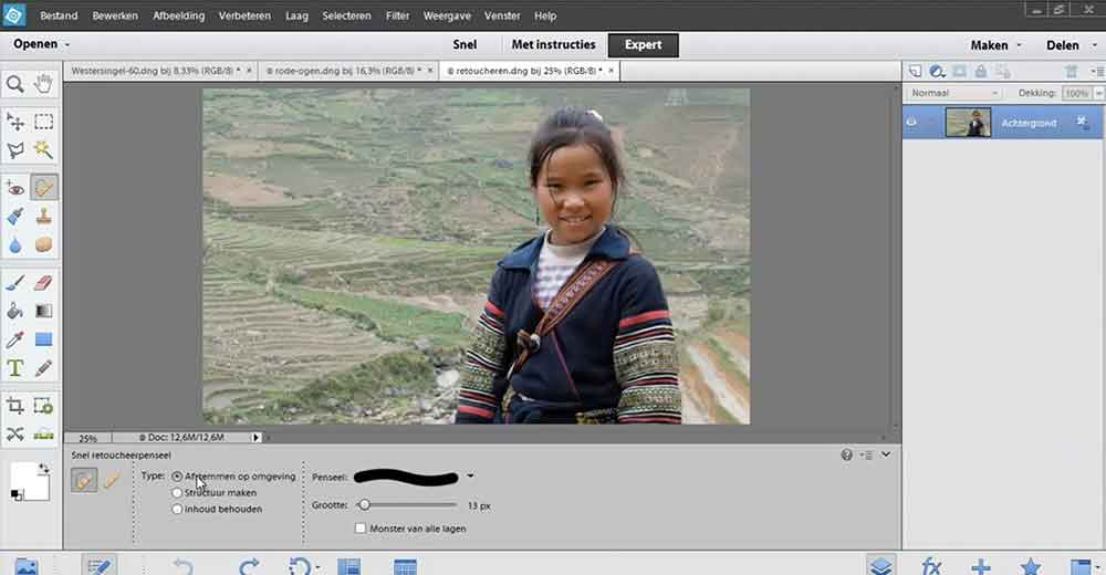 portretfoto's bewerken met photoshop elements