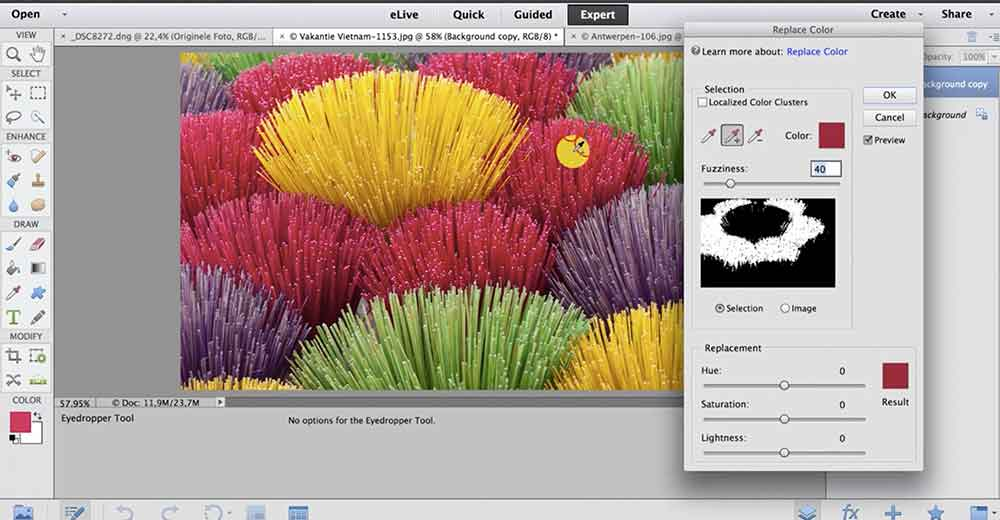 werken met maskers in photoshop elements