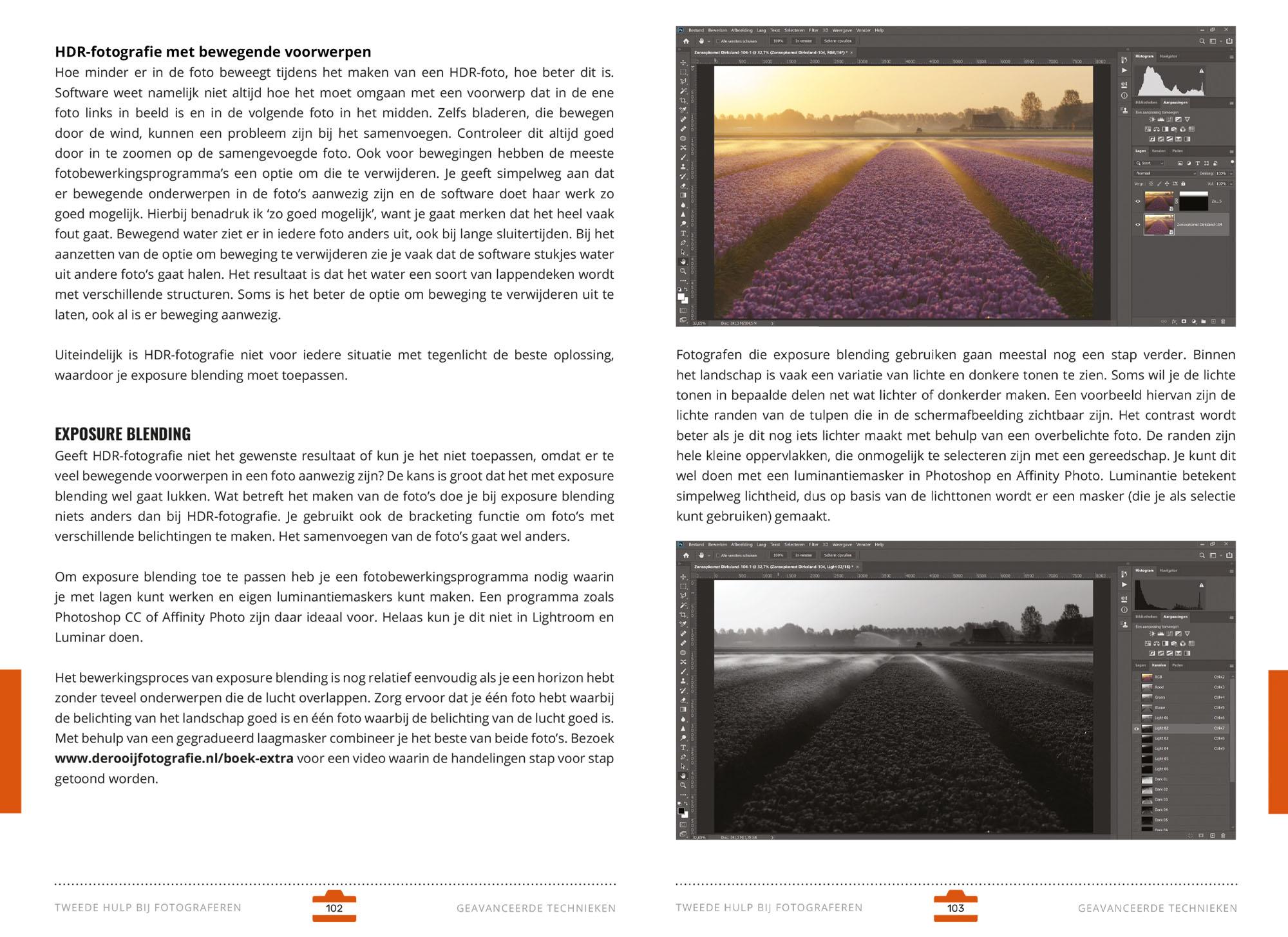 Voorbeeldpagina's Fotografieboek Tweede Hulp Bij Fotograferen