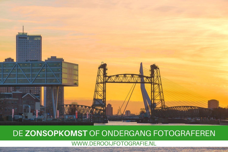 Fotografietips voor het fotograferen van de zonsopkomst en zonsondergang