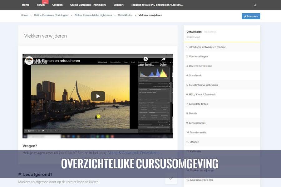 online cursus adobe lightroom overzicht