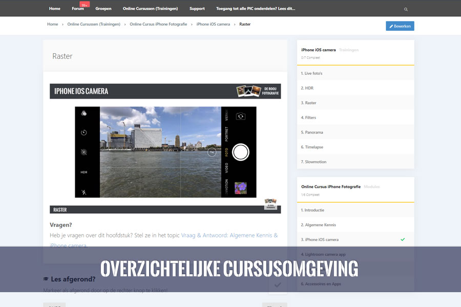 online cursus android apple smartphone fotografie overzicht