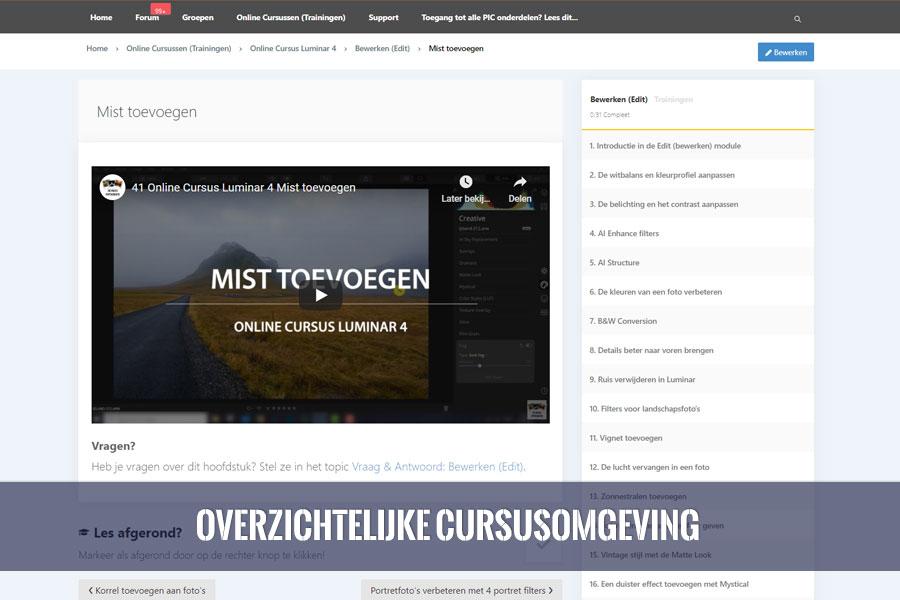 online cursus luminar overzicht