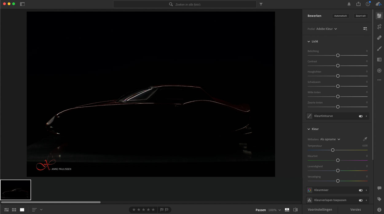 Werkruimte Adobe Lightroom CC