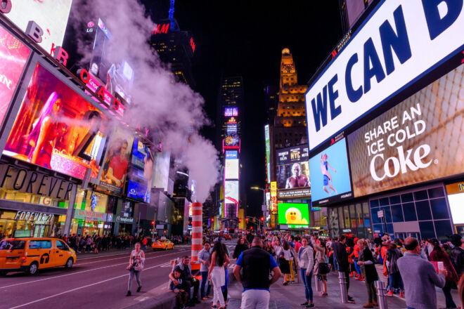 Mooie avondfoto Time Square New York