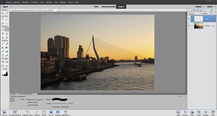 Beste cursus Photoshop Elements - Onderwerpen verwijderen