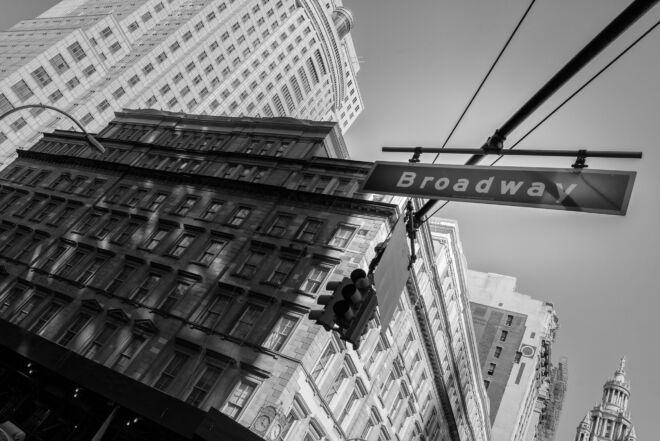 Zwart=wit foto Broadway New York