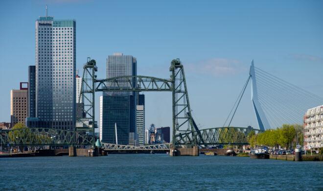 Skyline Rotterdam in de herfst