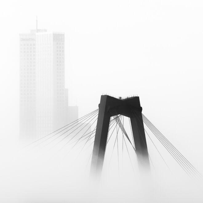Mooiste foto Rotterdam met mist
