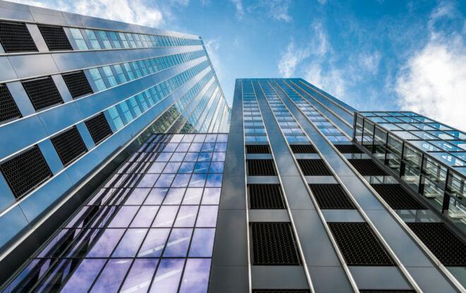 Foto van de Maastoren in Rotterdam (Deloitte kantoor)
