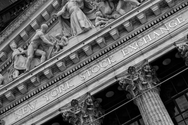 Foto New York Stock Exchange op Wall Street