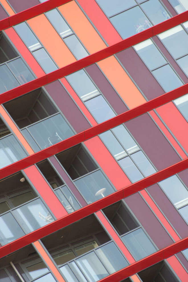 Architectuurfoto van woontoren Calypso in Rotterdam