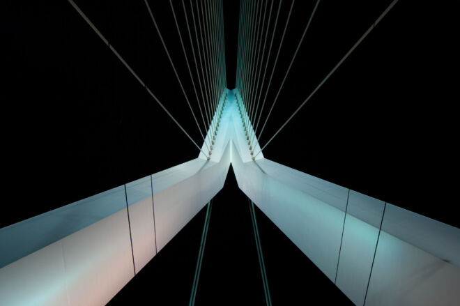 Mooiste foto van de Erasmusbrug (in het midden van de brug)