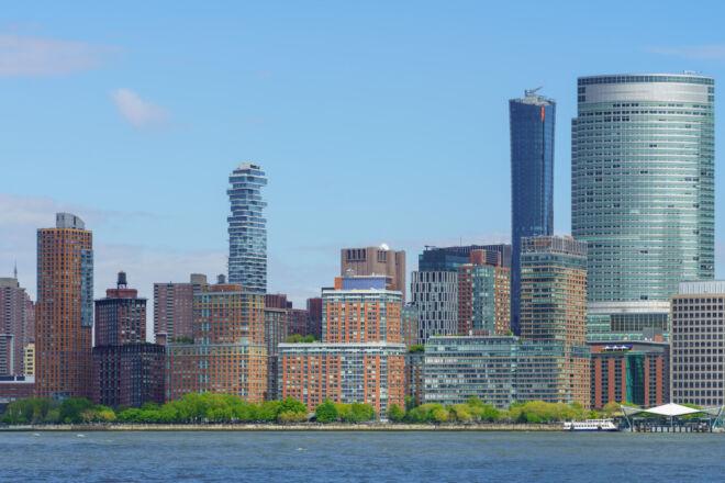 Foto skyline Lower Manhattan Rockefeller Park