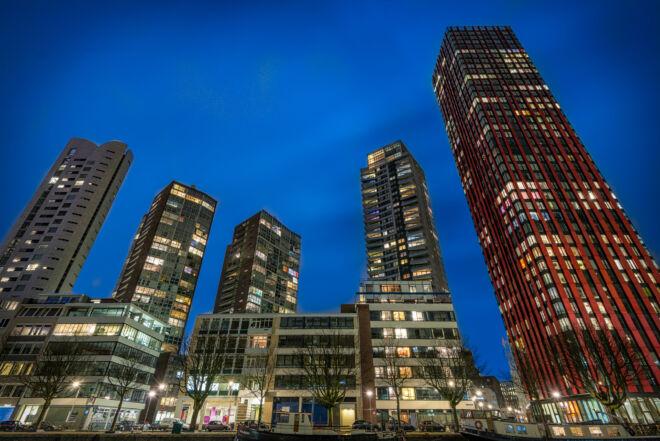 Avondfoto Wijnhaveneiland Rotterdam