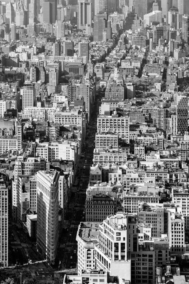 Luchtfoto Manhattan met Flatiron