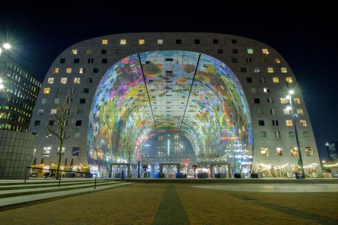 Mooiste avondfoto Markthal Rotterdam