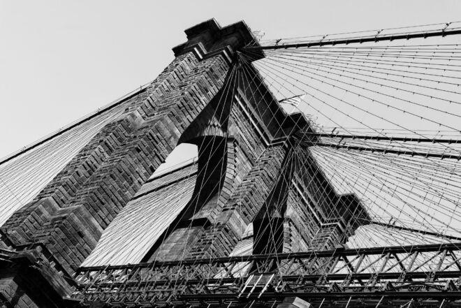Mooiste foto Brooklyn Bridge New York (zwart-wit)