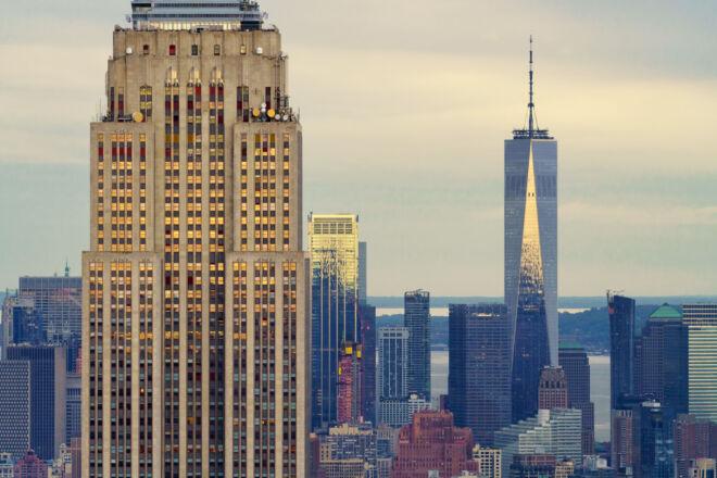 Mooiste foto Empire State Building en Freedom Tower New York