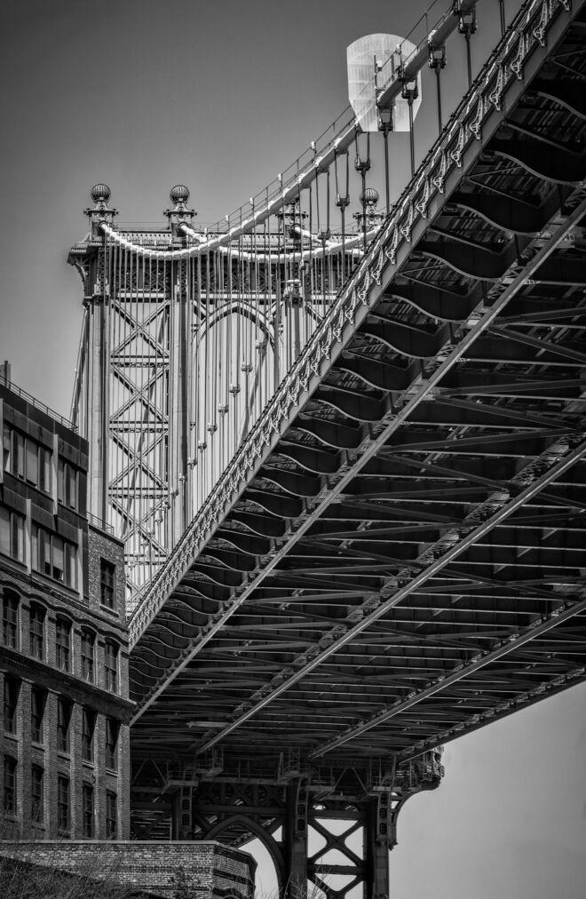 Mooiste foto Manhattan Bridge New York (zwart-wit)