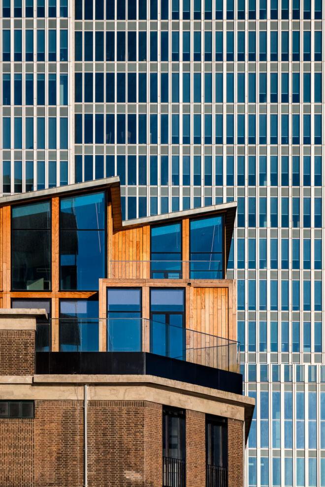 Architectuurfoto De Rotterdam en Bruno Apartments