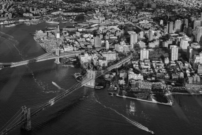 Mooiste luchtfoto Brooklyn Bridge New York