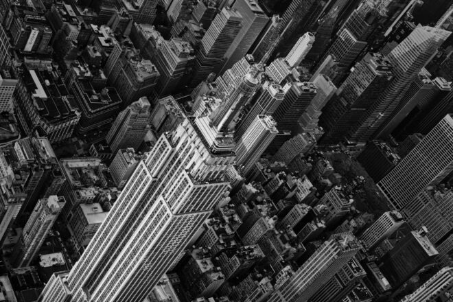 Mooiste luchtfoto Empire State Building New York