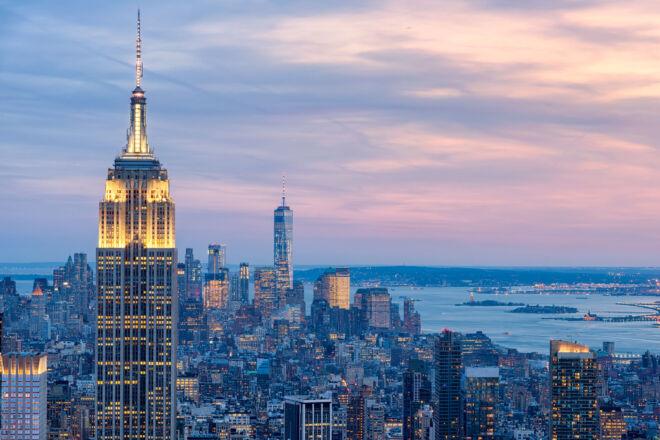 Mooiste skylinefoto Empire State Building Manhattan New York